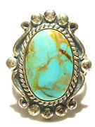 Large Example Bell Trading Post 26mm Sterling Silver Turquoise Southwestern Ring