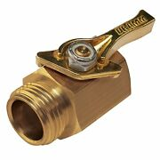 Heavy Duty Solid Brass Shut Off Ball Valve For 3/4inch Ght Garden Watering Hoses