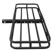 Hitch Mount Cargo 53x19 Carrier Basket Rack Hauler Luggage 2 Hitch Receiver