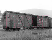 Wellsville, Addison And Galeton Wag Outer Braced Boxcar 5096 - 8x10 Photo