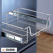 6 X Pull Out Wire Baskets Kitchen Cabinet Larder Cupboards To Suit 900mm Cabinet