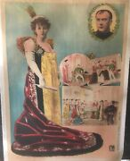 Original Vintage French Josephine And Napoleion Poster Linen Backed