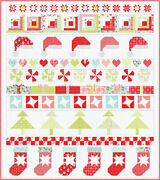 Vintage Holiday Christmas Quilt Kit + Moda Fabric + Quilt Pattern / Holidays