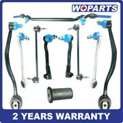 Front Lower Control Arms Tie Rod Sway Bar Center Drag Link Kit Fit For Bmw E38