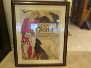 Clinique Cheron Framed Vintage Veterinary Poster 45 X 36 Local Pick Up Only