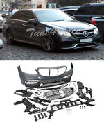 For 14-16 Mercedes Benz W212 S212 E Class Front Bumper Body Kit E63 Amg Style