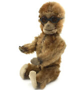 Schuco Tricky Monkey Yes No Mini Mohair Plush W Glasses C1930s 5in 12cm Antique