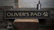 Paw Print Pet Sign Wooden Pet Gift -distressed Wooden Sign