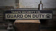 Dog On Duty Sign Guard Dog Gift -distressed Wooden Sign