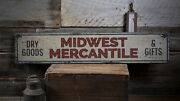 Midwest Mercantile Sign Mercantile Decor -distressed Wooden Sign