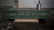 Lake House Kitchen Sign Wooden Kitchen Decor -distressed Wooden Sign