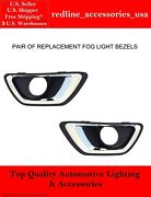 Driver And Passenger Side Fog Light Bezels Trim For Fits 2015-2020 Chevy Colorado