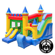 Commercial Bounce House 100 Pvc Castle Kingdom Jumper Slide Inflatable Only
