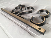 Modern Address Plaque Solid Brass, 16 1/2 X 5 1/2 Horizontal House Numbers