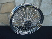 18x3.5 Dna Fat Spoke Mammoth Rear Abs 08-up Wheel For Harley Softail Heritage