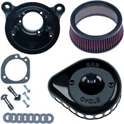 Sands Black Mini Teardrop Stealth Air Cleaner Kit For 01-17 Harley Dyna Touring