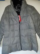 Womenand039s Weatherproof Down And Feather Filled Puffy Quilted Jacket Coat Gray Medium