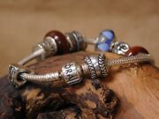 Pandora Sterling Silver Charm Bracelet With 7 Charms