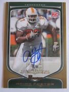 Arian Foster 2009 Bowman Gold Auto Tennessee Vols Texans On Card Auto Rc 5/10