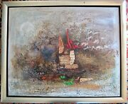 Orig Authentic Nissan Engel French Israeli Modern Expressionist Abstract Bezalel