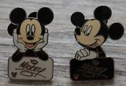 Rare Disneyland Mickey Mouse Pins Cast Lanyard Collection 3/5 5/5 Disney Limited