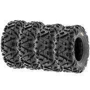 Set Of 4 24x8-12 And 24x9-11 Replacement Atv Utv Sxs 6 Ply Tires A033 By Sunf