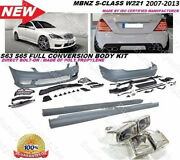 Mbenz 07-13 W221 S-class S65 S63 Amg Style Front Rear Bumper Body Kit S550 S600