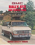 1981 Gmc Rally Stx And People Rugged Quality Trucks Sales Brochure /f7