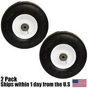 2pk 9x3.50-4 Solid Tire And Wheel Front Caster 3/4 Hd Bearing Fits Grasshopper
