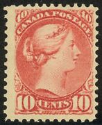45 - 10c Small Queen - Gorgeous Neat Hinge Remnant - Fresh