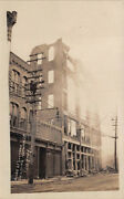 Norwich, Ct Shannon Bldg. Ruins After Fire Real Photo Pc Dated 1909