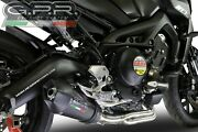Yamaha Mt09 Fz09 2017-18 Gpr Exhaust Full System With Gpe Cf Silencer Road Legal