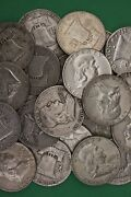 Make Offer 2 Troy Pounds Ben Franklin Half Dollars Halves Junk 90 Silver Coins