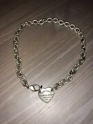 Sterling Silver And Co. Heart Charm Rolo Link Chain Necklace