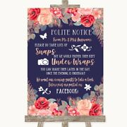 Navy Blue Coral Blush Rose Pink Red Donand039t Post Photos Facebook Wedding Sign