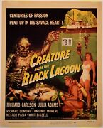 Creature From The Black Lagoon Window Card 1954 Vf- Gr8 Colors Trimmed @ Top