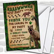 Scary Prehistoric Dinosaur Childrenand039s Birthday Party Thank You Cards