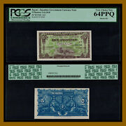 Egypt 5 Piastres 1918 P-162 Pcgs 64 Ppq Egyptian Government Currency Note Unc