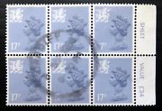 Gb Wales 1986 - 17p Rare Type Ii Sgw44ea Cat Andpound270 Nc1738