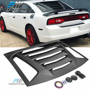 Fit 11-21 Dodge Charger Rear Window Scoop Louver Rain Sun Guard Shade Cover Abs