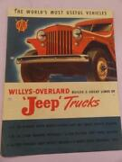 Jeep Trucks Usa Willys Overland Vehicles Advertising Brochure 1950and039s