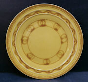 Vintage Pacific Pottery Dinner Plate 613 Yellow Wave Pattern