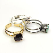 4pcs X Round Adjustable Ring Bezel Settings Fit Cabochon 8mm Or Ss39