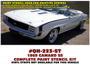 Qh-223 1969 Chevy Camaro - Ss Side Paint Stencil - Fenders And Doors