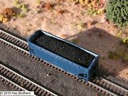 3-pack Of Hay Brothers Coal Loads 3 - Fits Atlas 2-bay Offset-side Hopper Cars