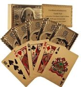 Trademark Poker 24k Gold Playing Cards - Bridge Size - Regular Index