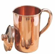 Pure Copper Smooth Water Jug/copper Pitcher For Ayurveda Health Benefit 100 New