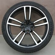Set Of 4 22 22x10 5x130 Turbo Style Wheels And Tires Pkg Fit Porsche Cayenne