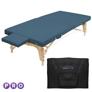 Portable Physical Therapy Massage Table - Stretching Treatment - Blue