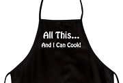 Funny Apron For Dad All This ... And I Can Cook Novelty Aprons For Men